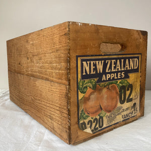 Vintage New Zealand Apple crate
