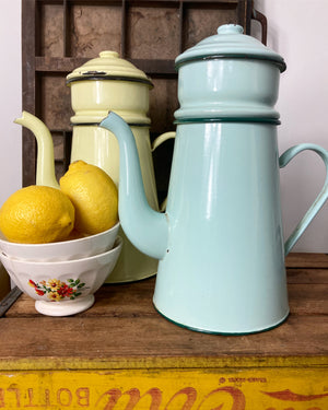 Mint Green Enamel Coffee Pot