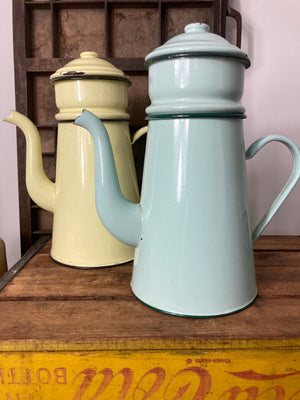 Yellow Enamel Coffee Pot