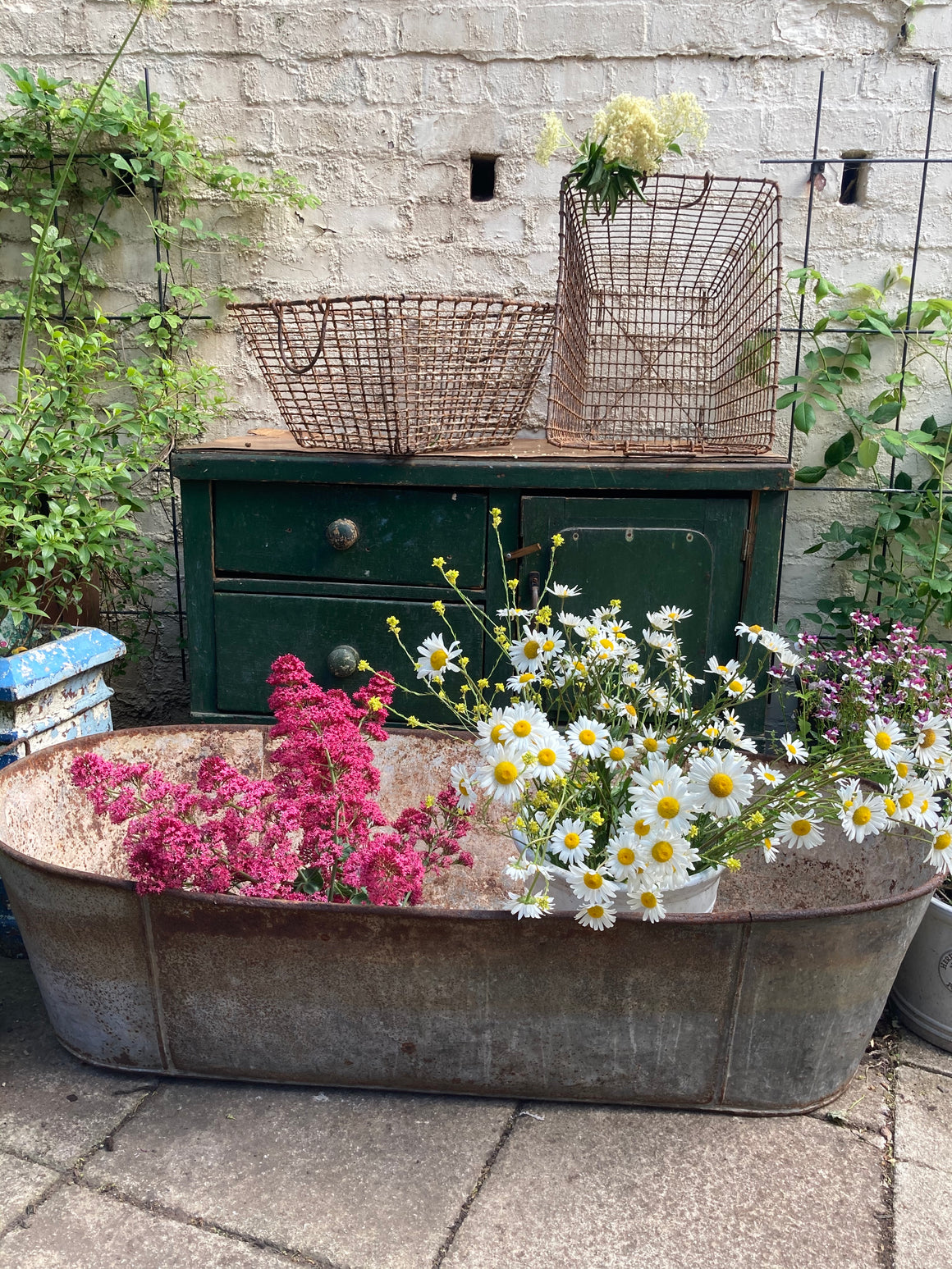 Galvanised Bath Planter