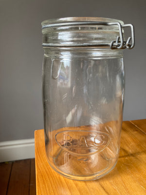 """RAC"" Clear Glass Jar"