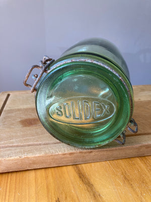 Solidex Green Glass Canning Jar 3/4 Litre