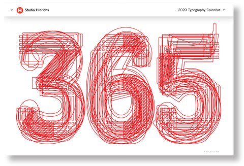 365 Typography Calendar for 2020