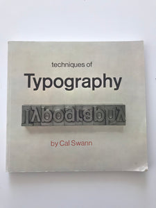 Techniques of Typography