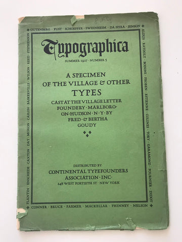 Typographica: A specimen of the Village & Other Types
