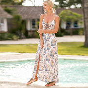 Tunic Dress Floral Beach Maxi Boho Dress