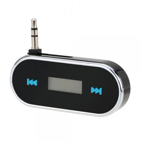 3.5mm Audio Car FM Transmitter for iPhone/iPad/iPod/Smartphone/MP3 Black