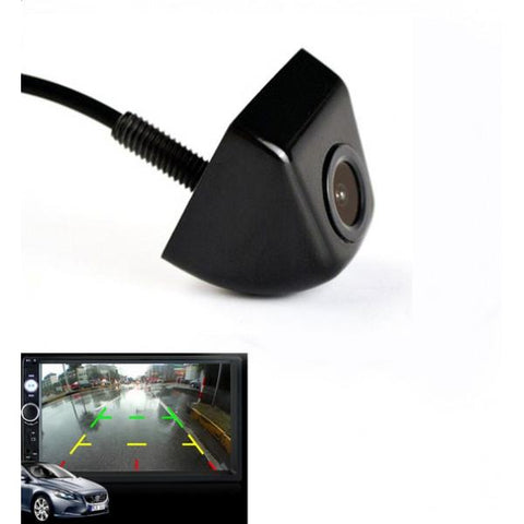 170° CCD HD Night Vision Mini Waterproof Car Rear View Camera Black