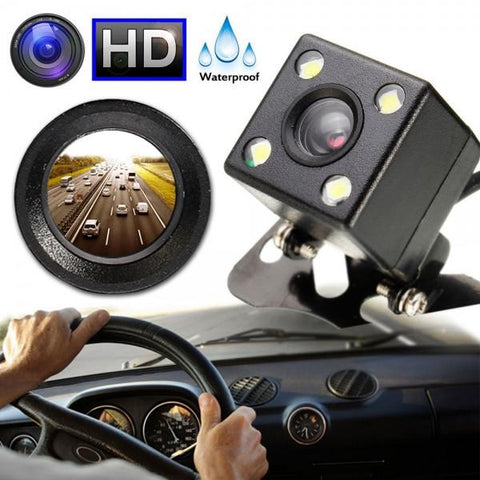 170-Degree Night Vision HD Car Reverse Camera Waterproof Parking Rear View LED Sensor Black