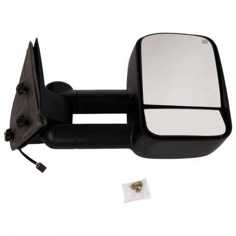 2pcs Power Heated Towing Side View Mirrors for 1999-2002 Chevy Black