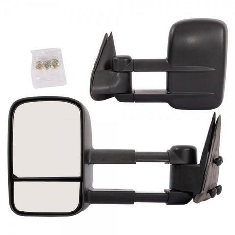 2pcs Towing Manual Side View Mirrors for 1999-2006 Chevy Black