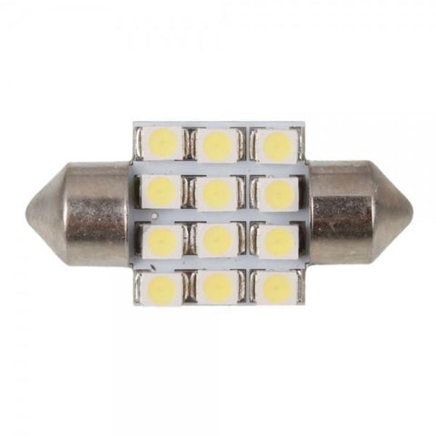 3021 31mm 12 SMD LED Interior Car Dome Festoon Light Bulbs White
