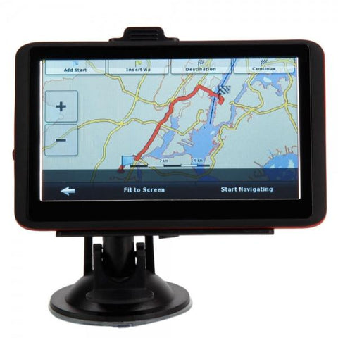 "5"" Car GPS Navigator Red Edge with USA & Canada & Mexico Map"