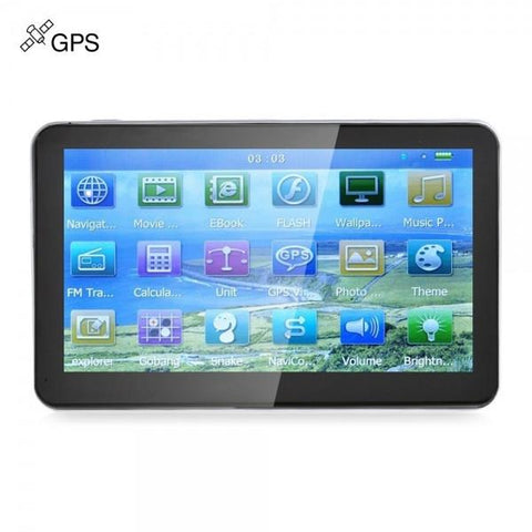 "7"" Car GPS Navigation Navigator with Bluetooth AV (Oceania Map)"