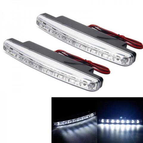 C05 3W 6000-7500K 50LM White 9-LED Car Daytime Running Light (DC 12V / Pair)