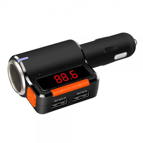 BC09 Car MP3 Audio Player Dual USB Output Bluetooth FM Transmitter Handsfree Kit Black