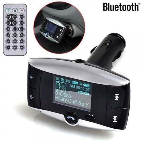BT-01 LCD Wireless Bluetooth FM Transmitter Car MP3 Player Black
