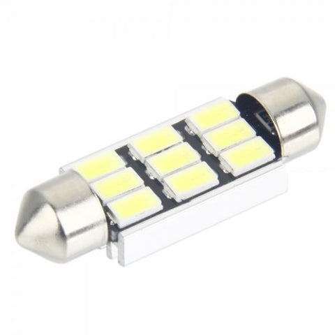 Bicuspid Aluminum 39mm 9SMD 5630 LED Light Bulb with Decoding White Light