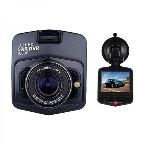 "GT300 1080P 2.4"" Car Video Recorder with 120 Degree View Angle / Night Vision / G-Sensor Motion Black"