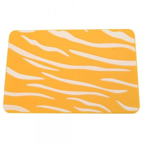 Silicone Tiger Stripe Pattern Car Anti-slip Pad White and Yellow