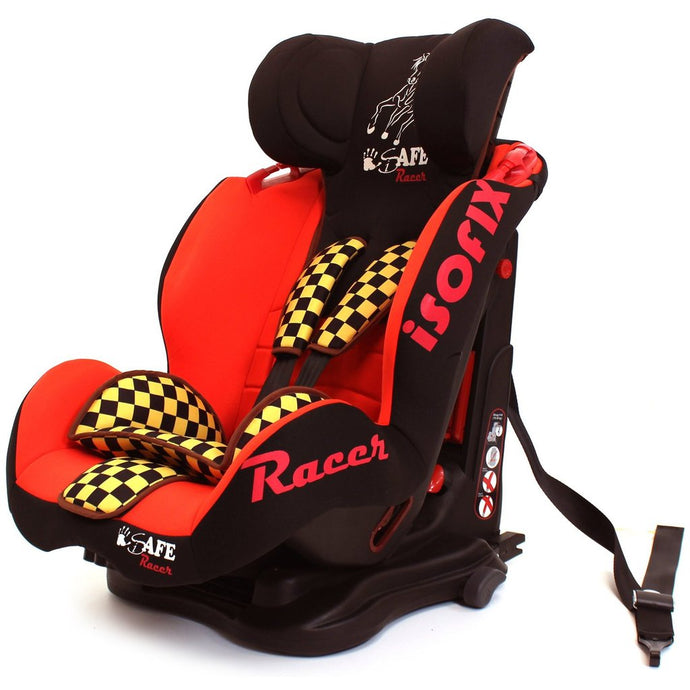 iSafe Car Seat Group 1-2-3 Racer (3 in 1, ISOFIX, Top Tether, Belt Fit)