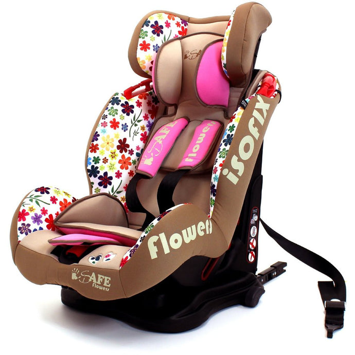 iSafe Car Seat Group 1-2-3 Flowers (3 in 1, ISOFIX, Top Tether, Belt Fit)