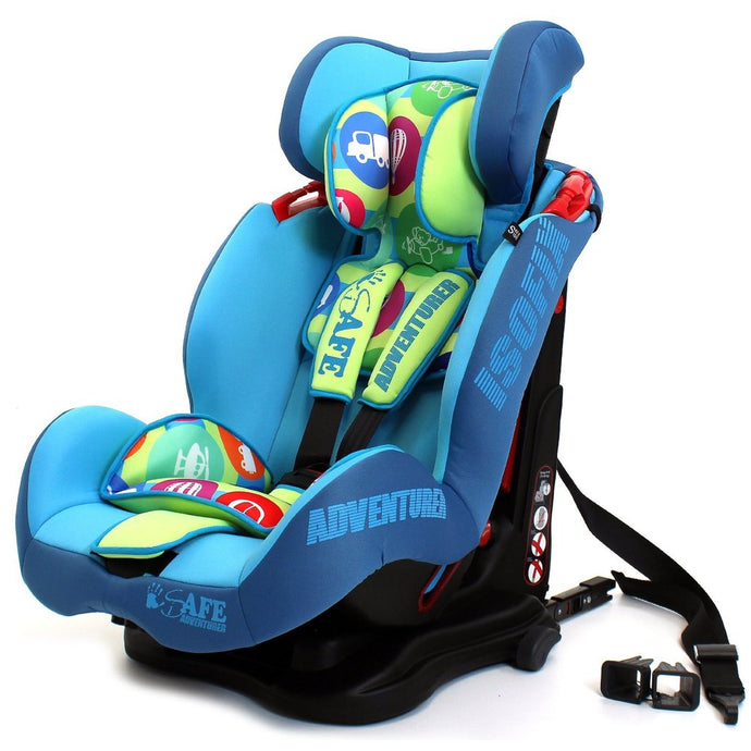 iSafe Car Seat Group 1-2-3 Adventurer (3 in 1, ISOFIX, Top Tether, Belt Fit)