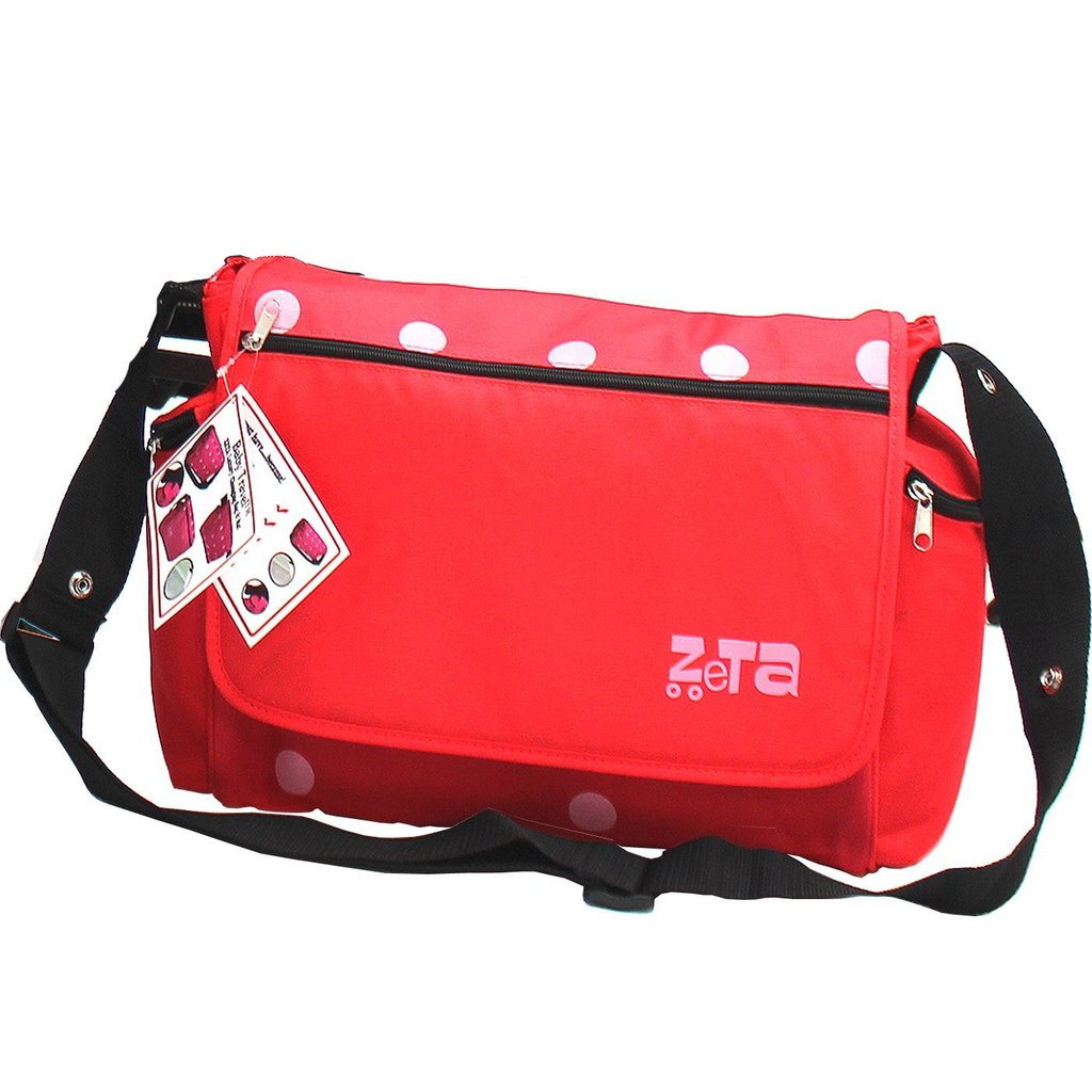 Luxury Bag & Changing Mat - Red Dots