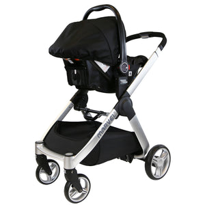 3 IN 1 Marvel Travel System - Black Pearl (With Car Seat & Carrycot)