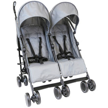 Zeta CiTi Twin Stroller -Black (Grey)