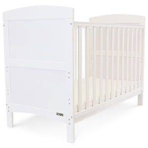 Baby Bed Cot Crib With Mattress White