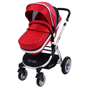2 in 1 iSafe Pram System - Warm Red