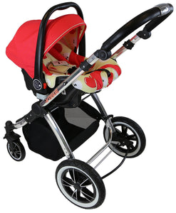 3 in 1 iVogue Pram System - Apple (Including Carseat)