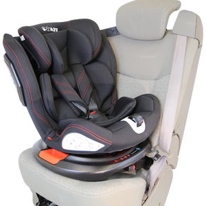 All Stages 360° Rotating Baby Car Seat Carseat Group 0+ 1 2 3 (CS 008) (Grey)