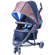 iSafe Visual 3 Three Wheeler Stroller All Seasons (Brown / Blue)