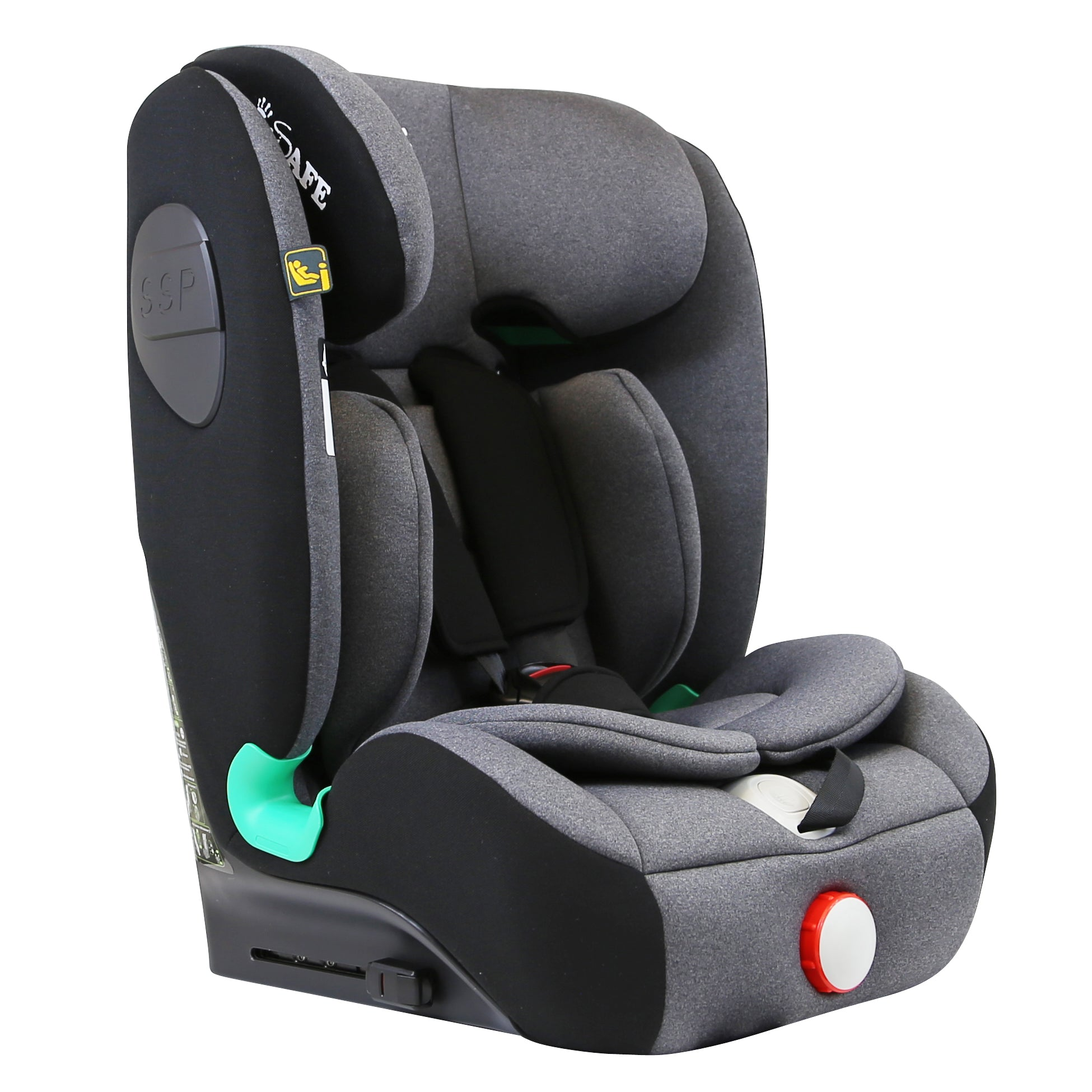 iSafe iSiZE Isofix Baby Car Seat Group 1/2/3 (Black / Grey) ECE R129/03 (Space Saver)
