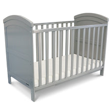 iSafe Baby Cot Bed Toddler Bed - Liam (Grey Including Mattress)