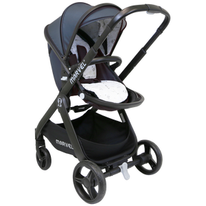iSafe Marvel 2in1 Pram System And Car Seat - Charcoal Black