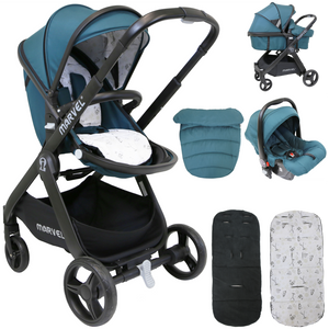 iSafe Marvel 2in1 Pram System And Car Seat - Teal