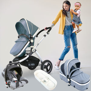 iSafe 3 in 1 Pram Travel System - (Grey All In One)