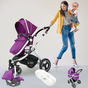 iSafe 3 in 1 Pram System Purple