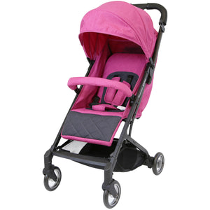 iSafe - Super MiNi Special Edition Floating Wheels Stroller - Pink (Complete With Free Rain-cover)
