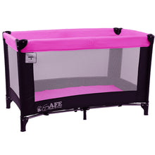 iSafe Rest & Play Luxury Travel Cot/Playpen - Purple (Black/Plum120 cm x 60 cm