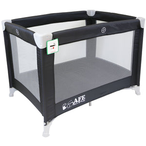 iSafe Roll & Play (96 cm x 66 cm) Luxury Travel Cot / Playpen - (Black)