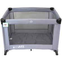 iSafe Roll & Play (96 cm x 66 cm) Luxury Travel Cot / Playpen - (Grey)