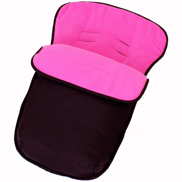 Buddy Jet Car Seat Footmuff - Black/Raspberry