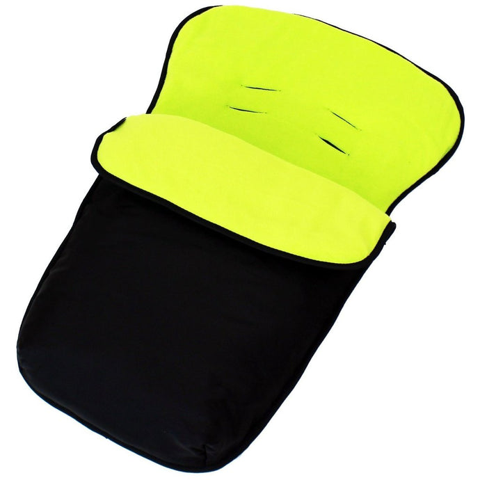 Buddy Jet Car Seat Footmuff - Black/Lime