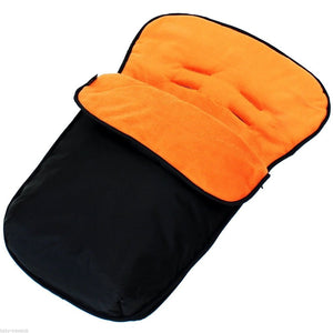 Buddy Jet Car Seat Footmuff - Black/Orange