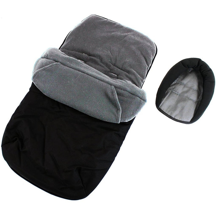 Footmuff & Head hugger - Black/Grey