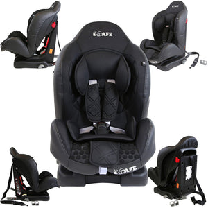 iSafe Car Seat Group 1 - Raven Black (3 in 1, ISOFIX, Top Tether, Belt Fit)